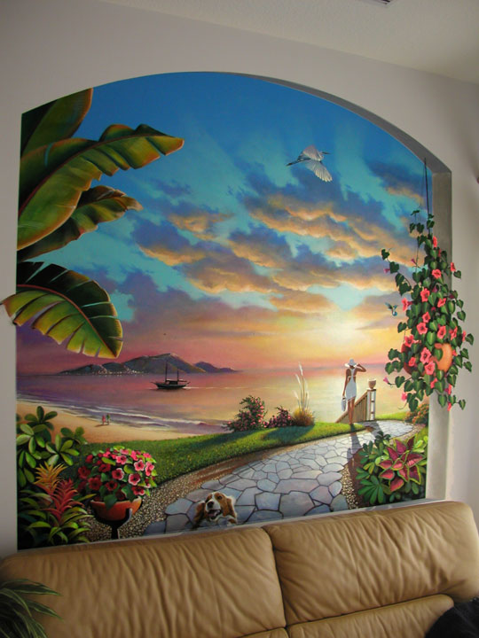 Murals by glenn adkins west palm beach and jupiter south for Beach mural painting
